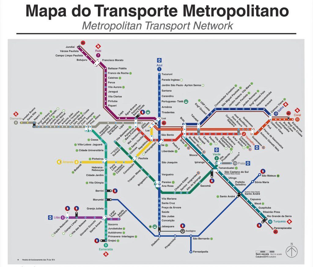 Mapa Transporte Metropolitano